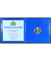 San Marino 1997: 1000£ Bimettalica