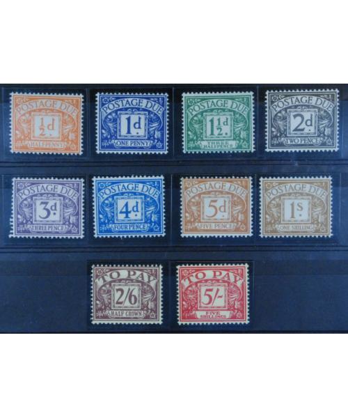 Gran Bretagna 1955/57: Segnatasse