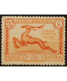 Spagna 1929: Espresso. Expo di Barcellona. Linguellato