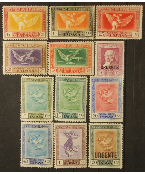 Spagna 1930: Francisco Goya Posta Aerea + Espressi. Linguellati