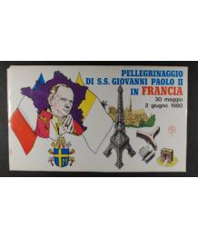 FDC Viaggi del Papa: 1980 Francia